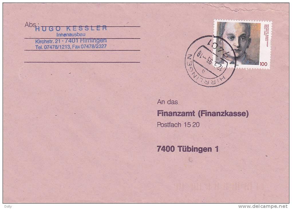 Cover / Brief/lettre 1992 - [7] Repubblica Federale