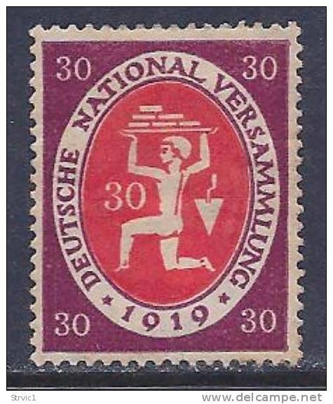 Germany, Scott # 108 Mint Hinged Republic National Assembly, 1919 - Germany