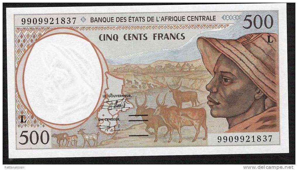 GABON C.A.S. P401Ld 500 Francs (19)99 1999  *  VERY RARE DATE *  UNC. * - Gabon