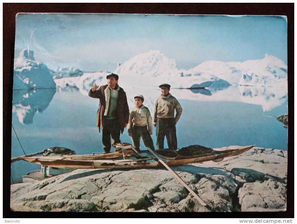 GROENLANDIA GREENLAND - Cartolina Pubblicitaria Viaggiata Con Francobollo Strappato. - Groenlandia