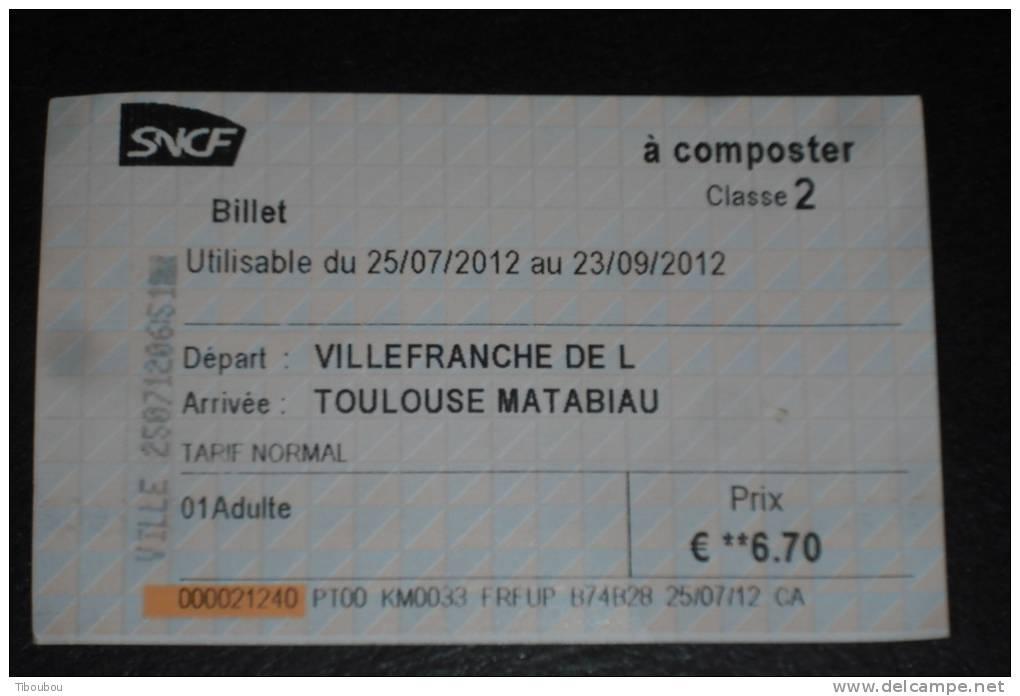 Ticket de train sncf