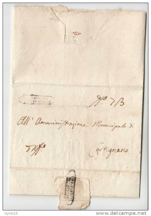 DB158-NAPOLEONICO 1808 Lettera Contenuto ASCOLI-CASTIGNANO-si Parla APPALTO ACQUEVITE - 1. ...-1850 Vorphilatelie