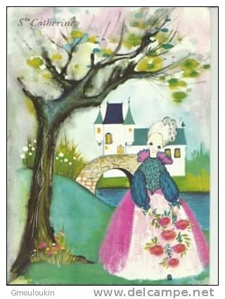 Ste Catherine - Femme Avec Bouquet - Château - Feiern & Feste