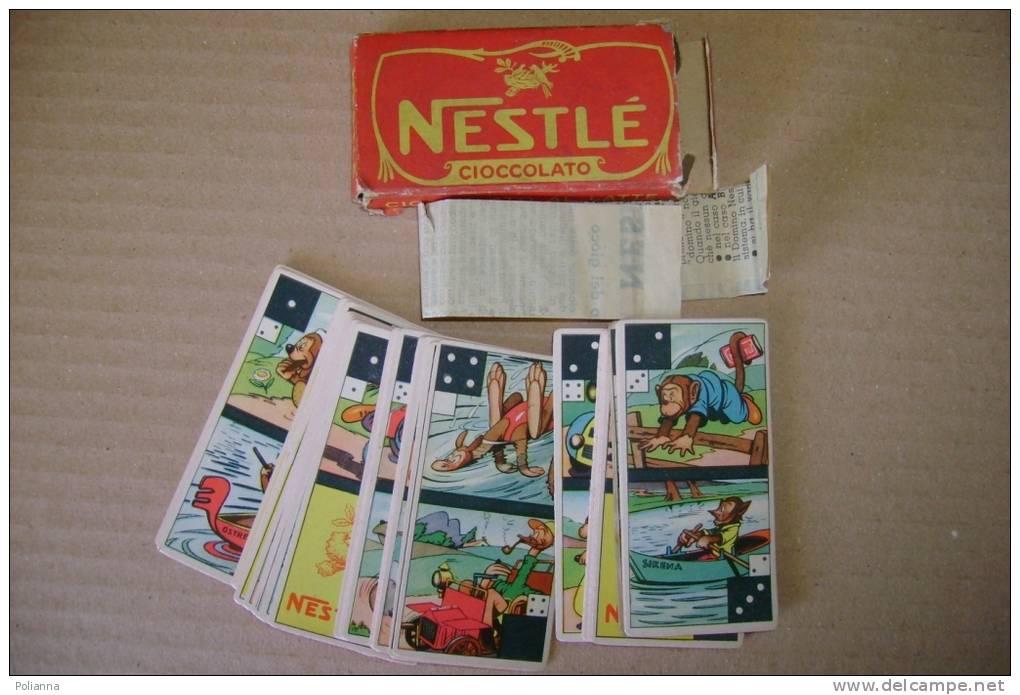 PO4804B# CARTE Illustrate CRAVERI GIOCO DOMINO GADGET PUBBLICITA' NESTLE' Anni '50 - Cioccolato