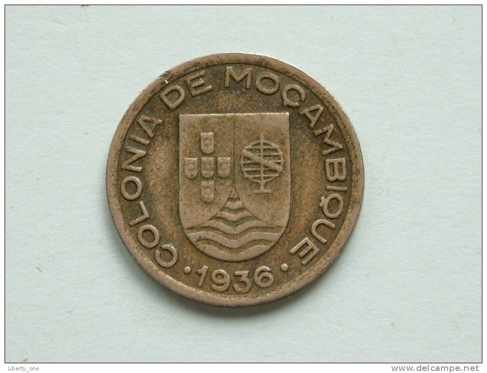1936 - 50 CENTAVOS ( Scarce ) / KM 65 ( Uncleaned - For Grade, Please See Photo ) ! - Mozambique