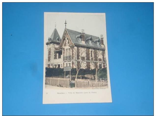 CPA 33 SOULAC Villa La Mascotte(pres La Poste) Gros Plan Carte Colorisee - Soulac-sur-Mer