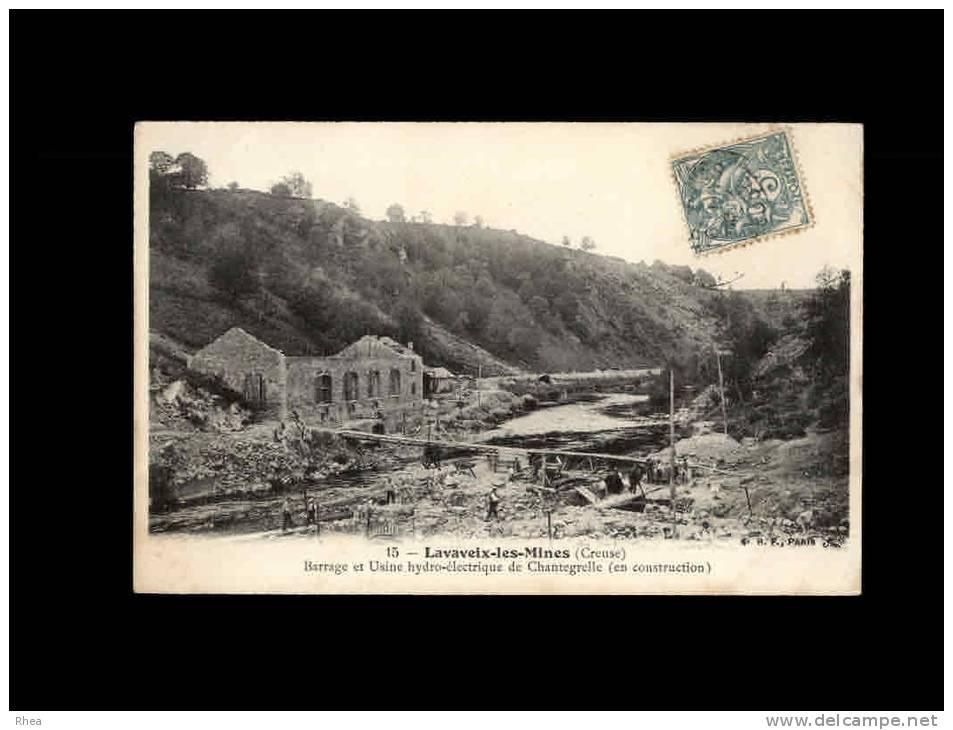 23 - LAVAVEIX-LES-MINES - Barrage Et Usine Hydro-électrique De Chantegrelle (en Construction) - 15 - France