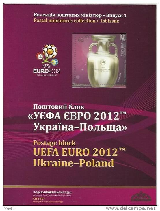 UA 2012-1234 UEFA CUP PRESENT BOOK, UKRAINA, PRESENT BOOK, MNH - Fußball-Europameisterschaft (UEFA)