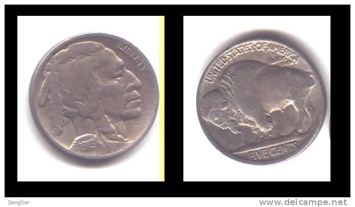 FIVE CENTS  TYPE BUFFALO INDIEN - 1919 - 1913-1938: Buffalo