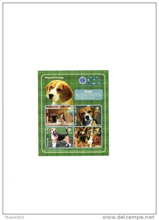 Grenade 2009. Beagle. N°Yvert & Tellier : 5171-4 - Honden