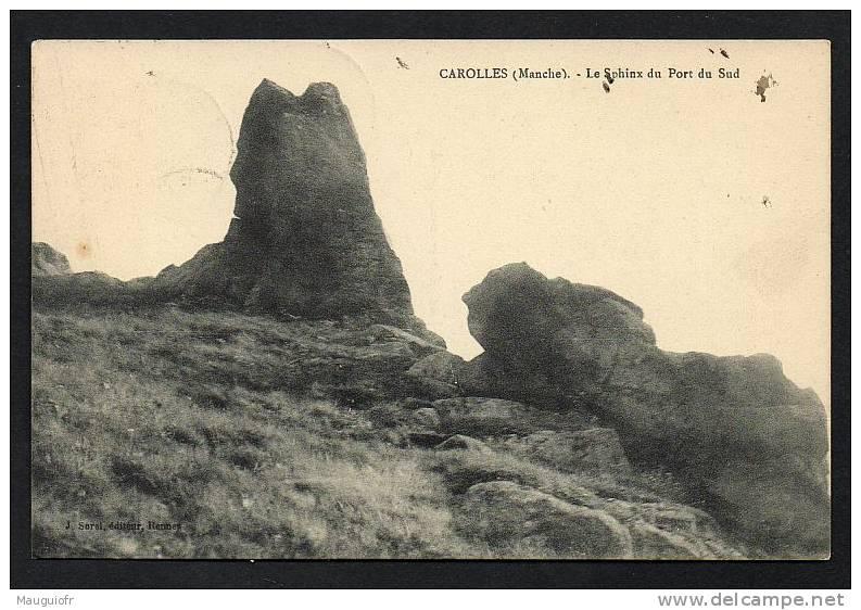 DF / 50   MANCHE / CAROLLES / LE SPHINX DU PORT DU SUD / CIRCULEE EN 1915 - Altri Comuni