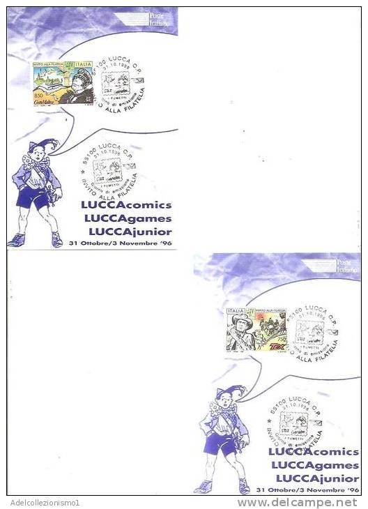 57220)n°2 Cartoline Illustratorie Serie Fumetti Con Un Valore + Annullo - Bandes Dessinées