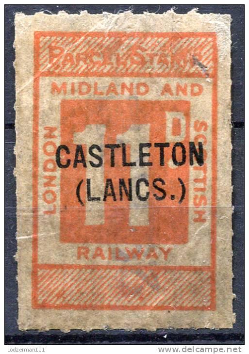 GB Railway Parcel Stamp - Castleton (Lancs.) - Grossbritannien