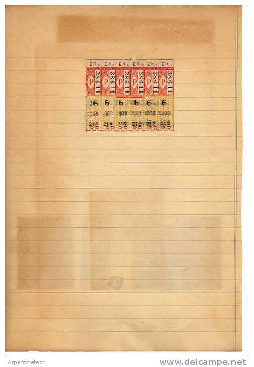 DIVERSOS TIPOS DE TICKETS DE FRANCIA   OHL - Old Paper