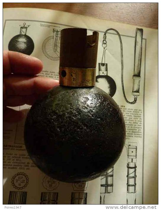 Grenade Boule Ww1 Neutra ! - 1914-18