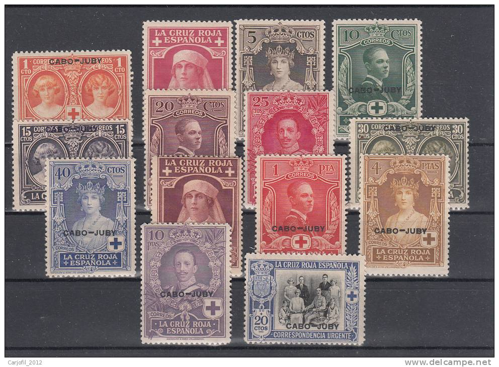 CABO JUBY - EDIFIL Nº 26/39** - PRO CRUZ ROJA ESPAÑOLA - 1926 - Cape Juby
