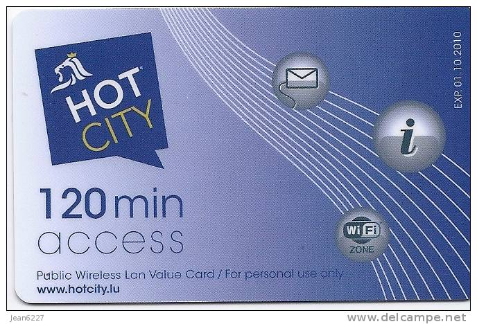 Hot City - Wireless LAN Access Card - Luxembourg City - Luxemburg