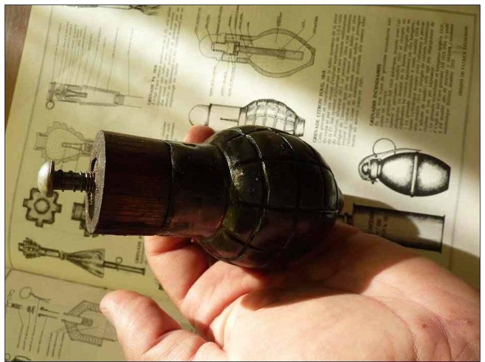 Grenade Foug Citron 1914 Ww1 Neutra ! - 1914-18