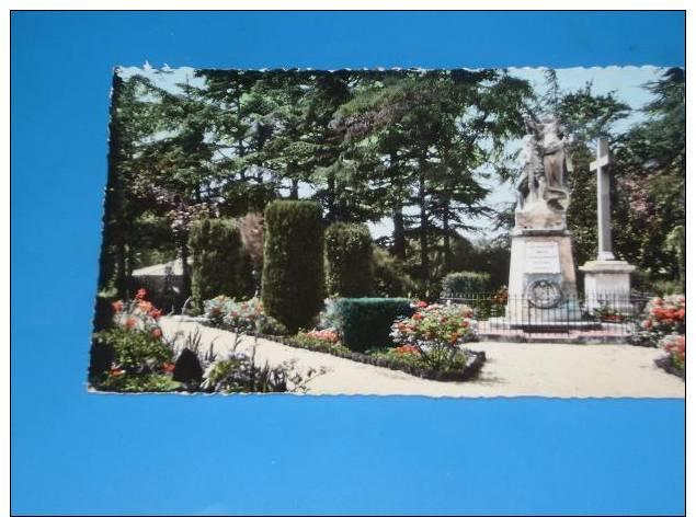 CPSM 84 BOLLENE Format Cpa Le Jardin De Ville Rare Vue(monument Aux Morts) - Bollene