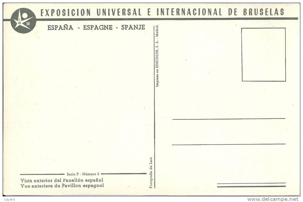 EXPOSICION UNIVERSAL E INTERNACIONAL DE BRUSELAS.Vista Exterior Del Pabellon Espanol-Vue Extérieure Du Pavillon Espagnol - Universal Exhibitions