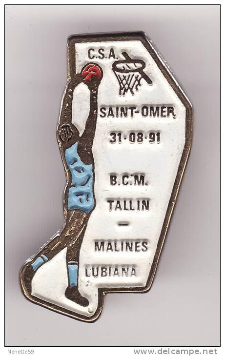 Pin´s C.S.A - SAINT OMER Le 31.08.1991 Basket - Basketball