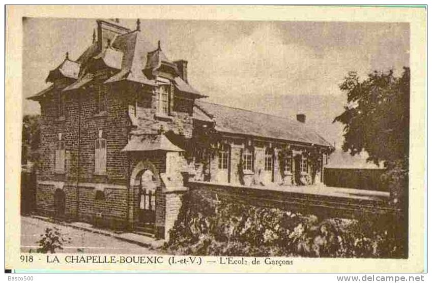 7 Cartes Postales Anciennes LA CHAPELLE BOUEXIC 35 Rue Ecole Chateau Etang Vallée - France