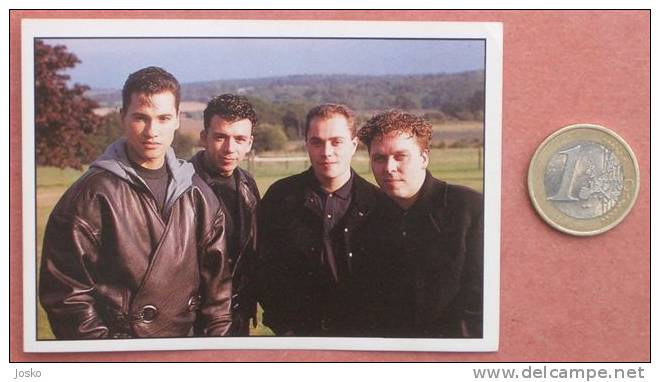 BROTHER BEYOND Pop-music Group ( Yugoslavian Rare Collectiable Card - Sticker Smash Hits ) * Musique Musica Musik - Stickers