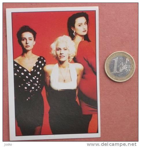 BANANARAMA Pop-music Group ( Yugoslavian Rare Collectiable Card - Sticker Smash Hits ) * Musique Musica Musik - Stickers
