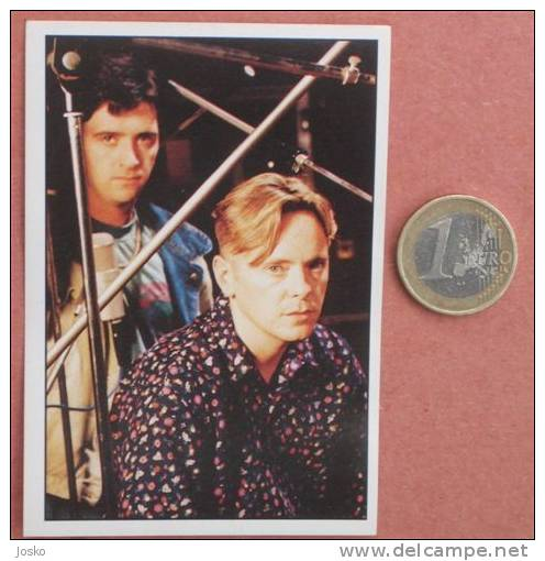 ELECTRONIC Pop-music Group ( Yugoslavian Rare Collectiable Card - Sticker Smash Hits ) * Musique Musica Musik - Stickers