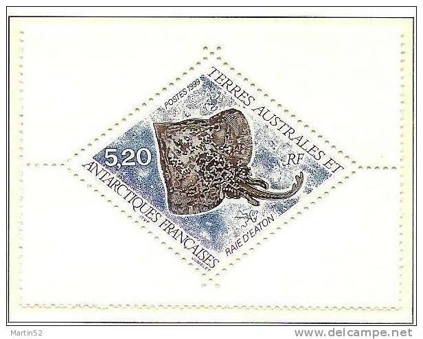 T.A.A.F.1999: Michel-No.389 Raie D'Eaton (Raja Eatonii)  ** MNH (cote 2.50 Euro) - Fische