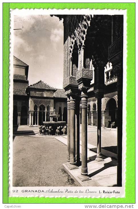 GRANADA / ALHAMBRA / PATIO DE LOS LEONES  / Tarjeta Virgen - Granada