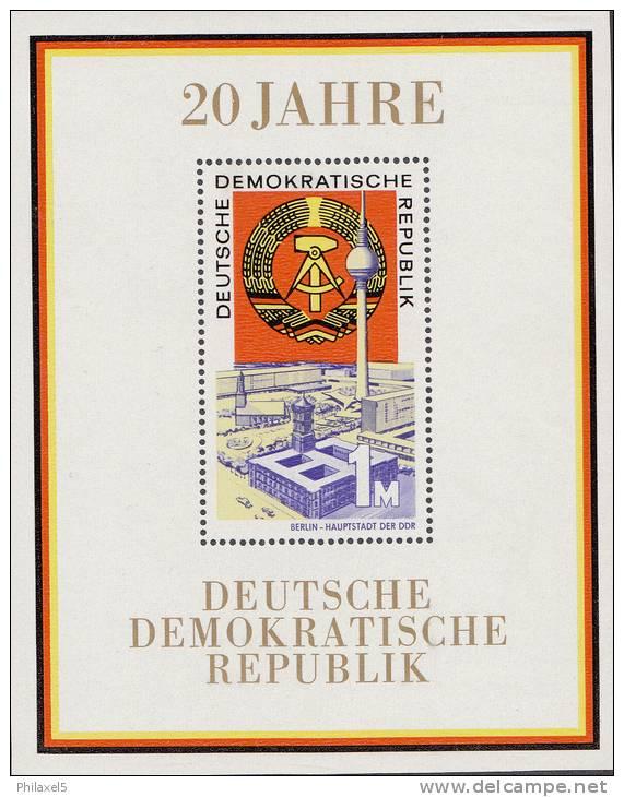 Oost-Duitsland - Block 28 - 20 Jahre DDR (I) - Xx - 1969 - Michel Block 28 - [6] Oost-Duitsland