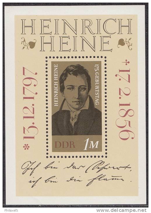 Oost-Duitsland - Block 37 -  175 Geburtstag Von Heinrich Heine - Xx - 1972 - Michel Block 37 - [6] Oost-Duitsland