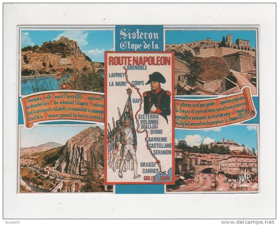 04 Sisteron Route Napoléon Vue Générale Belle Carte écrite En 1987 - Sisteron
