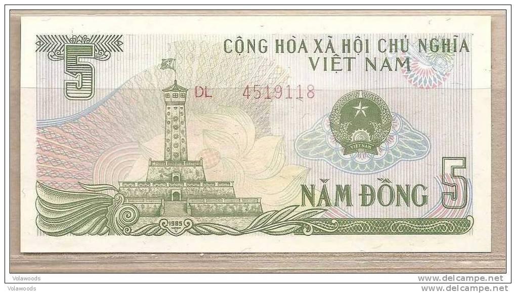Vietnam - Banconota Non Circolata Da 5 Dong - 1985 - Vietnam