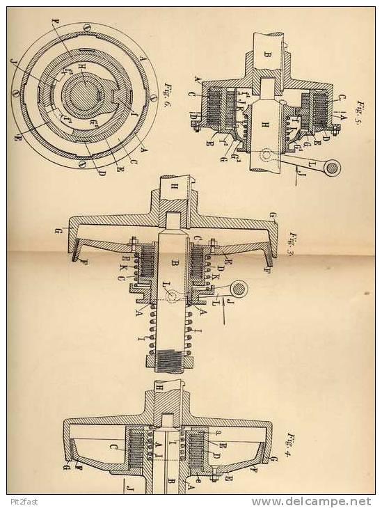 Original Patentschrift - C. Arbey In Besancon , 1904 , Bremse Oder Kupplung Mit Reibscheiben !!! - Cars