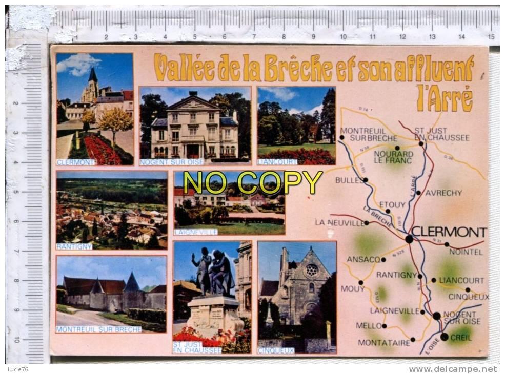 Vallée De La BRECHE Et Son Affluent L' Arré - Circuit -  8 Vues : Liancourt, Rantigny, Laigneville, Cinqueux, St Just... - France
