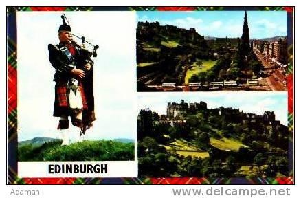 Pays De Galles        Edinburgh     3 Views  Princes Street And The Scott Monument. The Castel  . - Autres