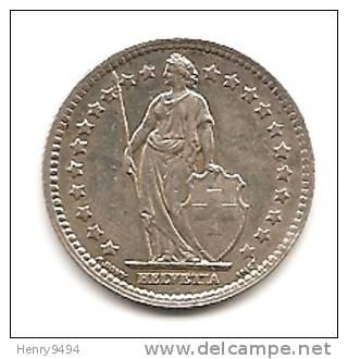 Lot Pièce 1 Franc Suisse Argent 1943 - Suiza