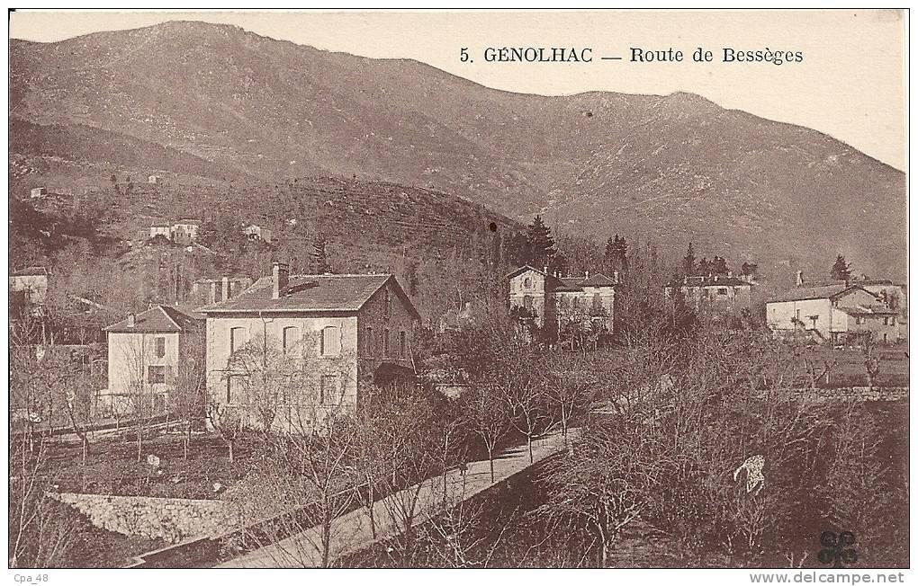 Gard- Génolhac -Route De Bessèges - France