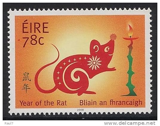 IRLANDE 2008 - Année Du Rat - 1v Neuf // Mnh - 1949-... Repubblica D'Irlanda