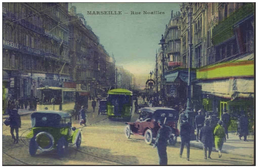 CPA Marseille: La Rue  Noailles. - The Canebière, City Centre