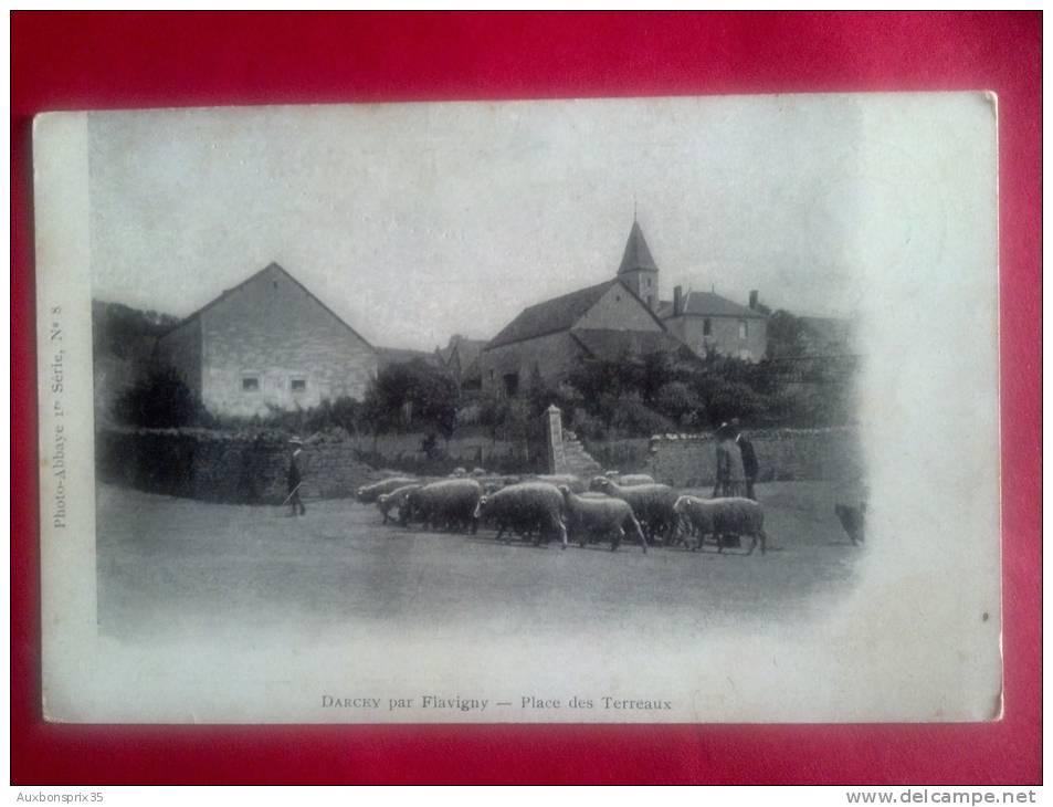 CPA - CARTE POSTALE - 21 - DARCEY (PAR FLAVIGNY) - PLACE DES TERREAUX - Autres Communes