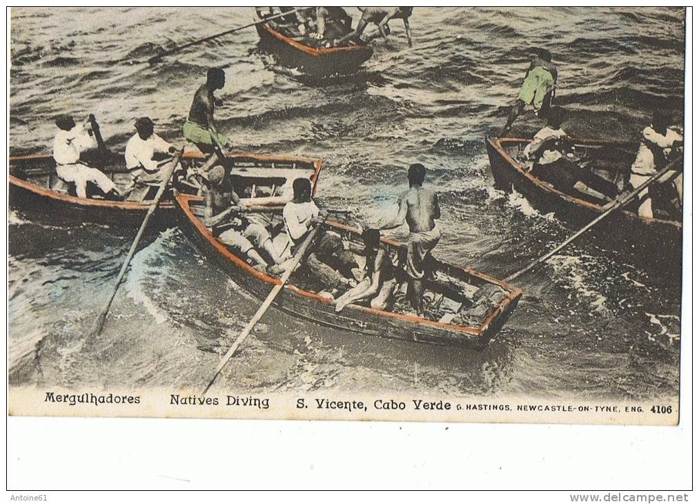S.VICENTE,CABO VERDE--Mergulhadores  Natives Diving - Cap Vert