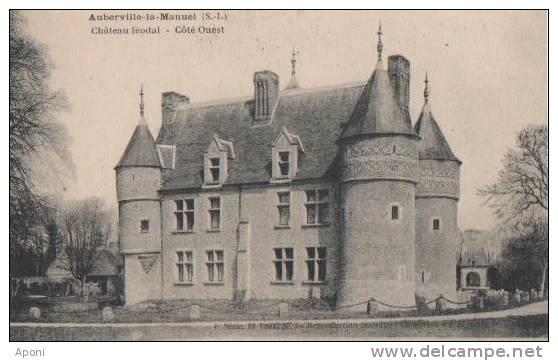 .AUBERVILLE LA MANUEL.( Chateau Feodal ) - France