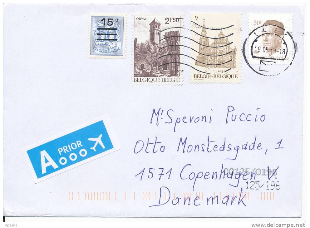 Belgium Cover Sent To Denmark 19-5-2011 - Covers & Documents