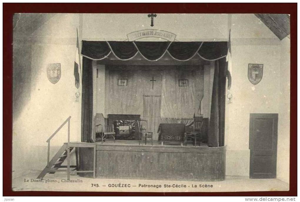 Cpa Du 29 Gouezec Patronage Ste Cécile La Scène  ... Chateauneuf Du Faou   PLOZ5 - Châteauneuf-du-Faou
