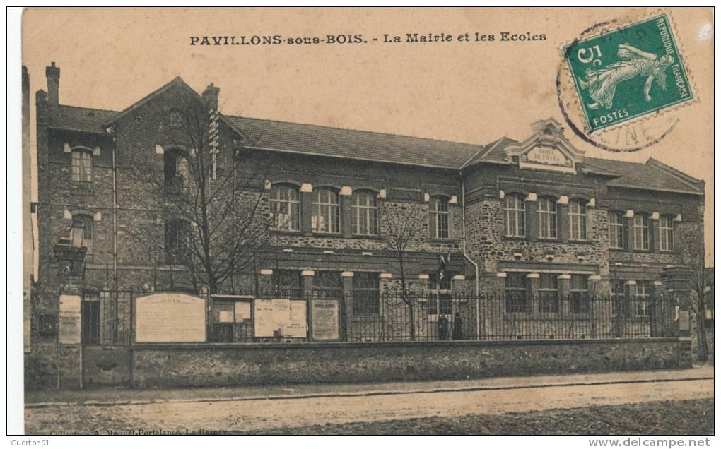 Cartes Postales > Europe > France > [93] Seine Saint Denis  ~ Ecole Monceau Pavillons Sous Bois