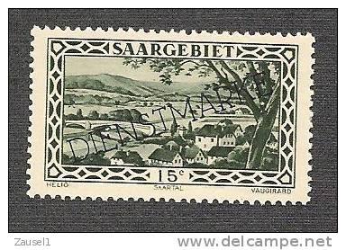 Saargebiet Dienstmarke Mi.Nr. 23 Postfrisch - Abstimmungsgebiete