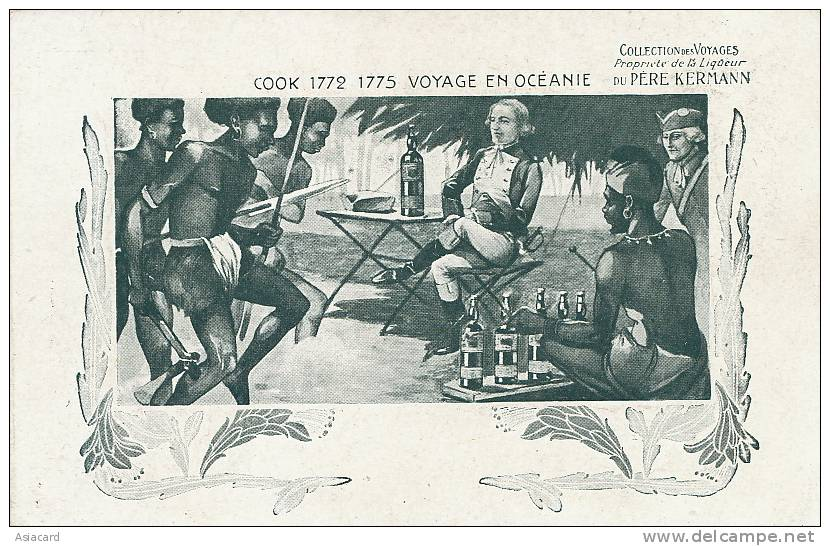 2eme Voyage James Cook Cercle Antarctique Marquises Ile  Paques , Hebrides Pub Liqueur Kermann - TAAF : Terres Australes Antarctiques Françaises